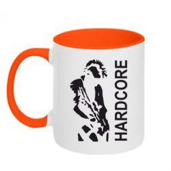 Кружка двухцветная Harcore - FatLine