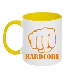 Кружка двухцветная hardcore - FatLine