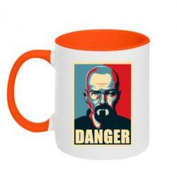 Кружка двухцветная Heisenberg Danger - FatLine