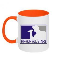 Кружка двухцветная Hip-hop all stars - FatLine