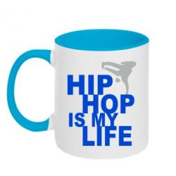 Кружка двухцветная Hip-hop is my life - FatLine
