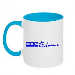 Кружка двухцветная HKS logo - FatLine