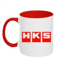 Кружка двухцветная HKS - FatLine