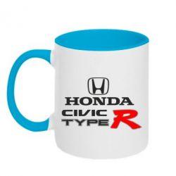 Кружка двухцветная Honda Civic Type R - FatLine