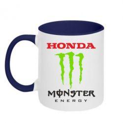 Кружка двухцветная Honda Monster Energy - FatLine