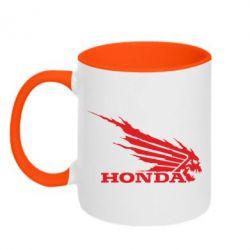 Кружка двухцветная Honda Skelet - FatLine