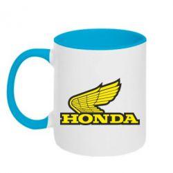 Кружка двухцветная Honda Vintage Logo - FatLine