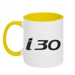Кружка двухцветная HYUNDAI i30 - FatLine
