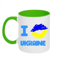 Кружка двухцветная I kiss Ukraine - FatLine
