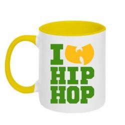 Кружка двухцветная I love Hip-hop Wu-Tang - FatLine