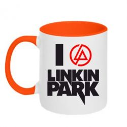 Кружка двухцветная I love Linkin Park - FatLine