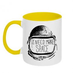 Кружка двухцветная I need more space - FatLine