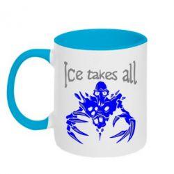 Кружка двухцветная Ice takes all Dota - FatLine