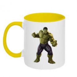 Кружка двухцветная Incredible Hulk 2 - FatLine