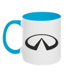 Кружка двухцветная Infiniti logo - FatLine