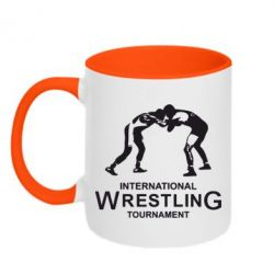 Кружка двухцветная International Wrestling Tournament - FatLine