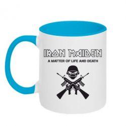 Кружка двухцветная Iron Maiden - FatLine