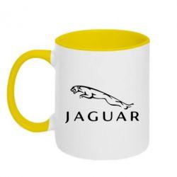 Кружка двухцветная Jaguar - FatLine