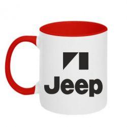 Кружка двухцветная Jeep Logo - FatLine