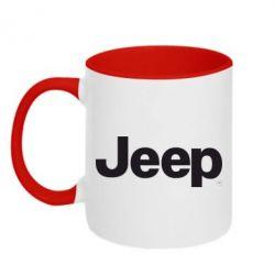 Кружка двухцветная Jeep - FatLine