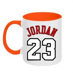 Кружка двухцветная Jordan 23 - FatLine