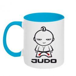 Кружка двухцветная Judo Fighter - FatLine