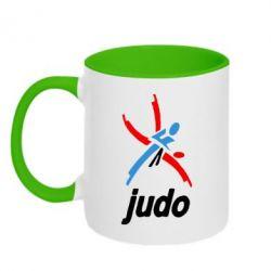 Кружка двухцветная Judo Logo - FatLine