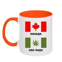 Кружка двухцветная Канада Как надо - FatLine