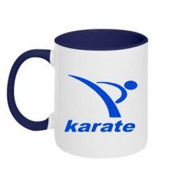Кружка двухцветная Karate - FatLine