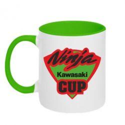 Кружка двухцветная Kawasaki Ninja Cup - FatLine