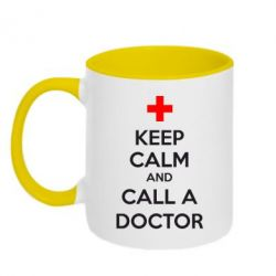 Кружка двухцветная KEEP CALM and CALL A DOCTOR - FatLine