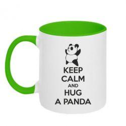 Кружка двухцветная KEEP CALM and HUG A PANDA - FatLine