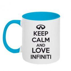 Кружка двухцветная KEEP CALM and LOVE INFINITI - FatLine