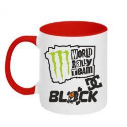 Кружка двухцветная Ken Block Monster Energy - FatLine