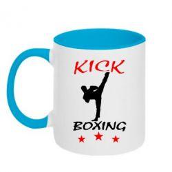Кружка двухцветная Kickboxing Fight - FatLine