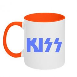 Кружка двухцветная Kiss Logo - FatLine