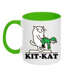 Кружка двухцветная Kit-Kat - FatLine