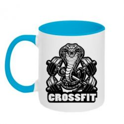 Кружка двухцветная Кобра CrossFit - FatLine