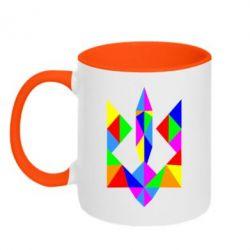 Кружка двухцветная Кольоровий герб - FatLine