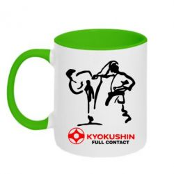 Кружка двухцветная Kyokushin Full Contact - FatLine