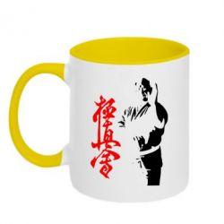 Кружка двухцветная Kyokushin Kanku Master - FatLine