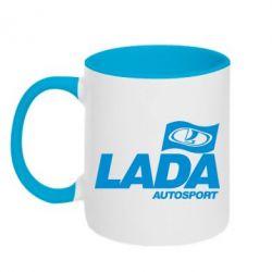 Кружка двухцветная Lada Autosport - FatLine