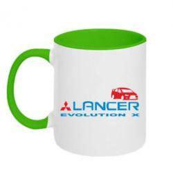 Кружка двухцветная Lancer Evolution X - FatLine