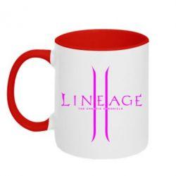 Кружка двухцветная Lineage ll - FatLine