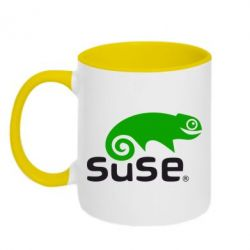 Кружка двухцветная Linux Suse - FatLine