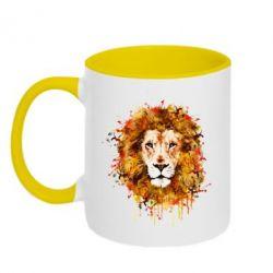 Кружка двухцветная Lion Art - FatLine