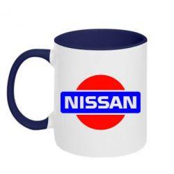 Кружка двухцветная Logo Nissan - FatLine