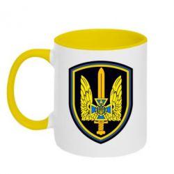 Кружка двухцветная Логотип Азов - FatLine