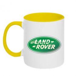 Кружка двухцветная Логотип Land Rover - FatLine