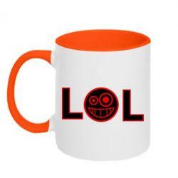 Кружка двухцветная LOL - FatLine